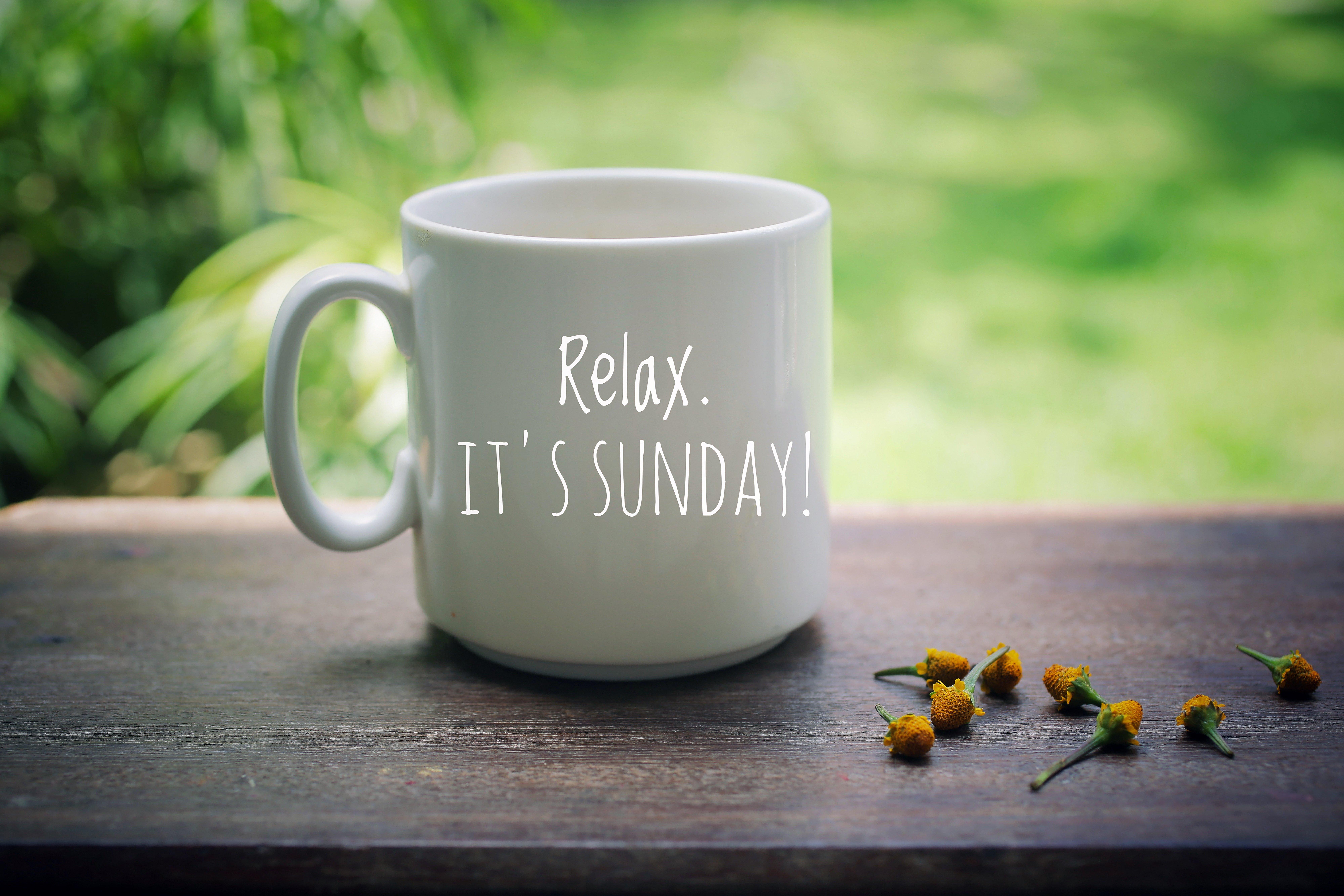 Kaffeetasse mit Relaxspruch